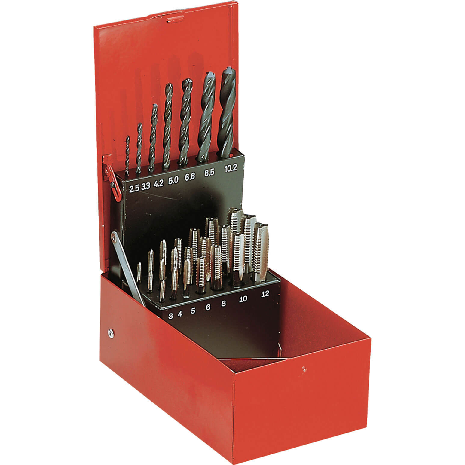Facom 28 Piece HSS Tap and Drill Bit Set Metric