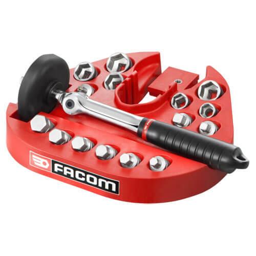 Facom 15 Piece Oil Drain Wrench & Magnetic Socket & Bit Set Combination