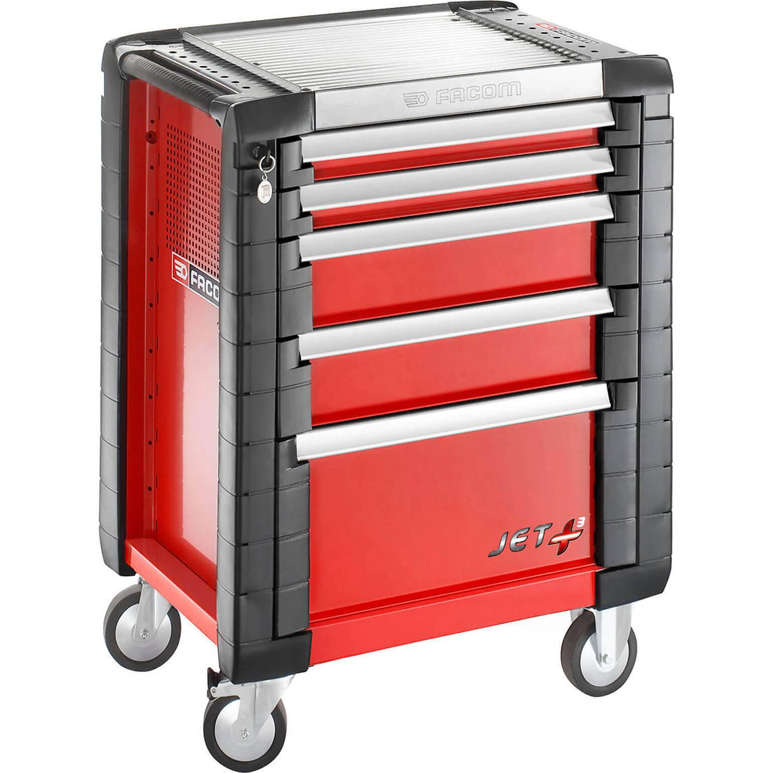 Facom jet 5 drawer tool roller cabinet black for Roller sideboard