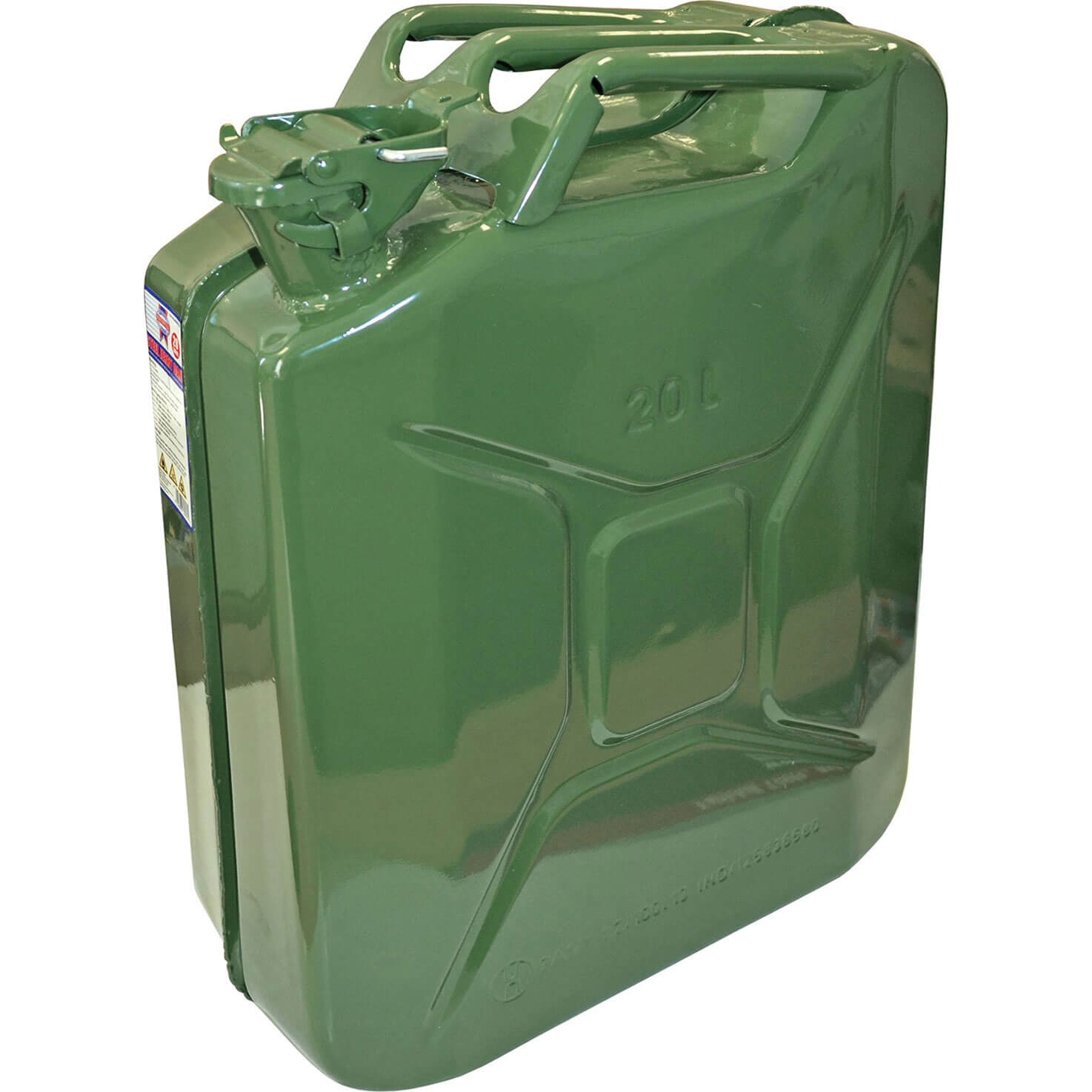 Image of Faithfull Metal Jerry Can 20l Green