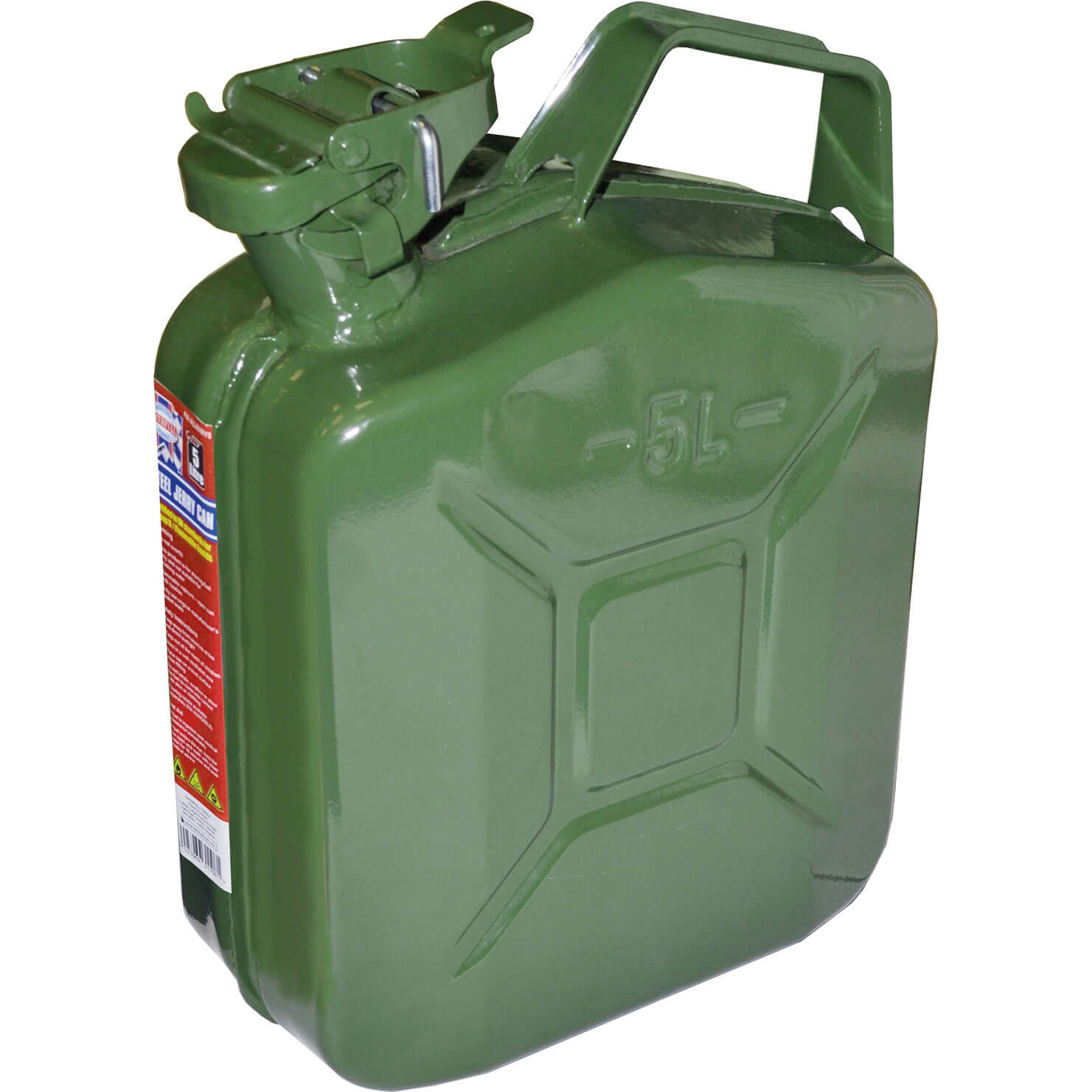Image of Faithfull Metal Jerry Can 5l Green