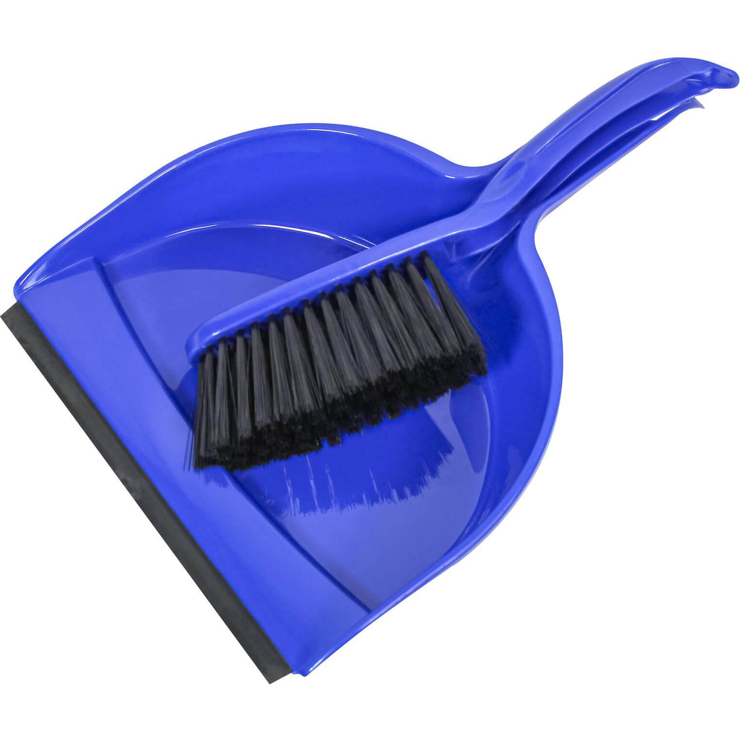 Image of Faithfull Plastic Dustpan & Brush Set