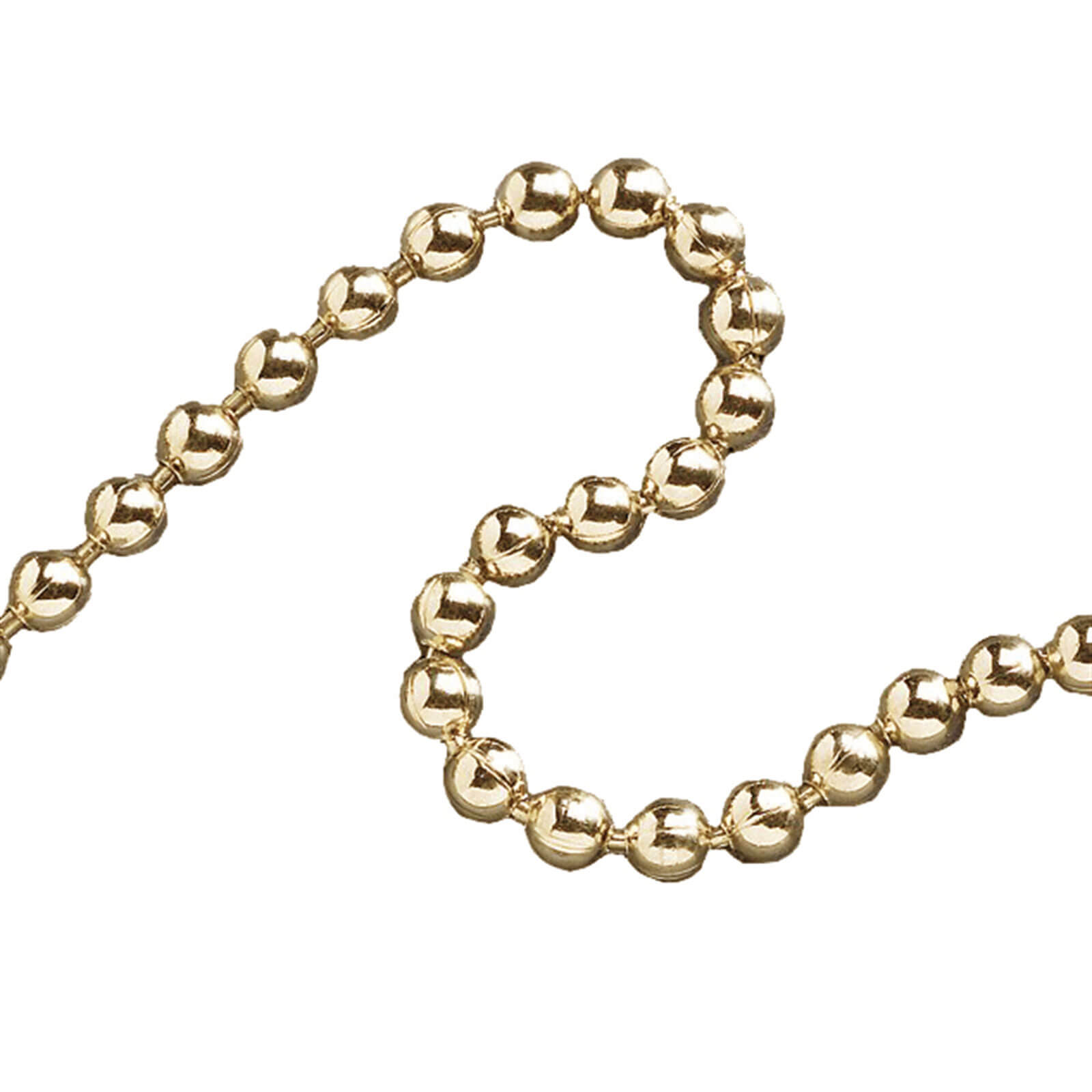 Faithfull Ball Chain Polished Brass 3.2mm 10m