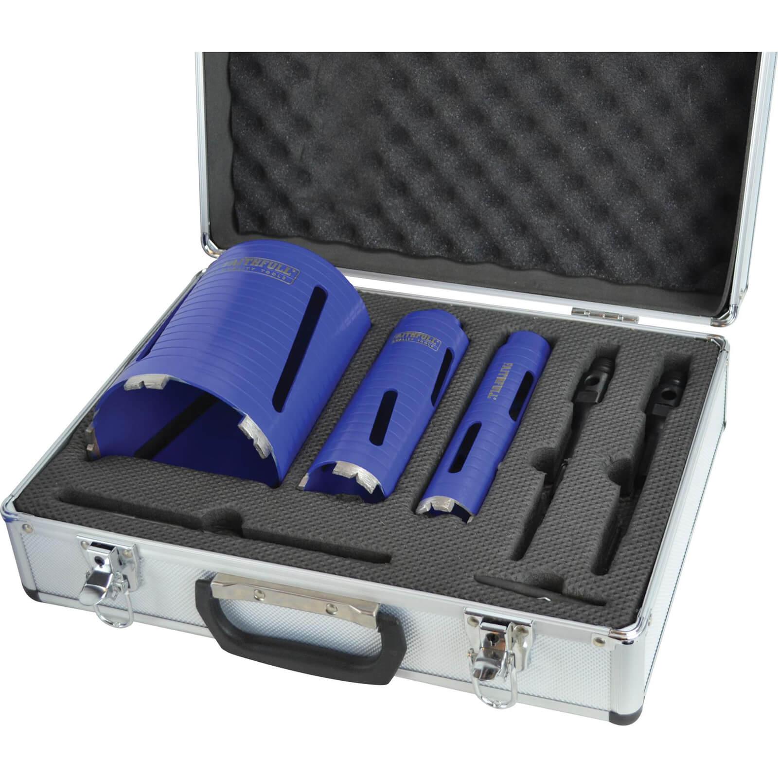 Image of Faithfull 7 Piece Diamond Core Drill Set