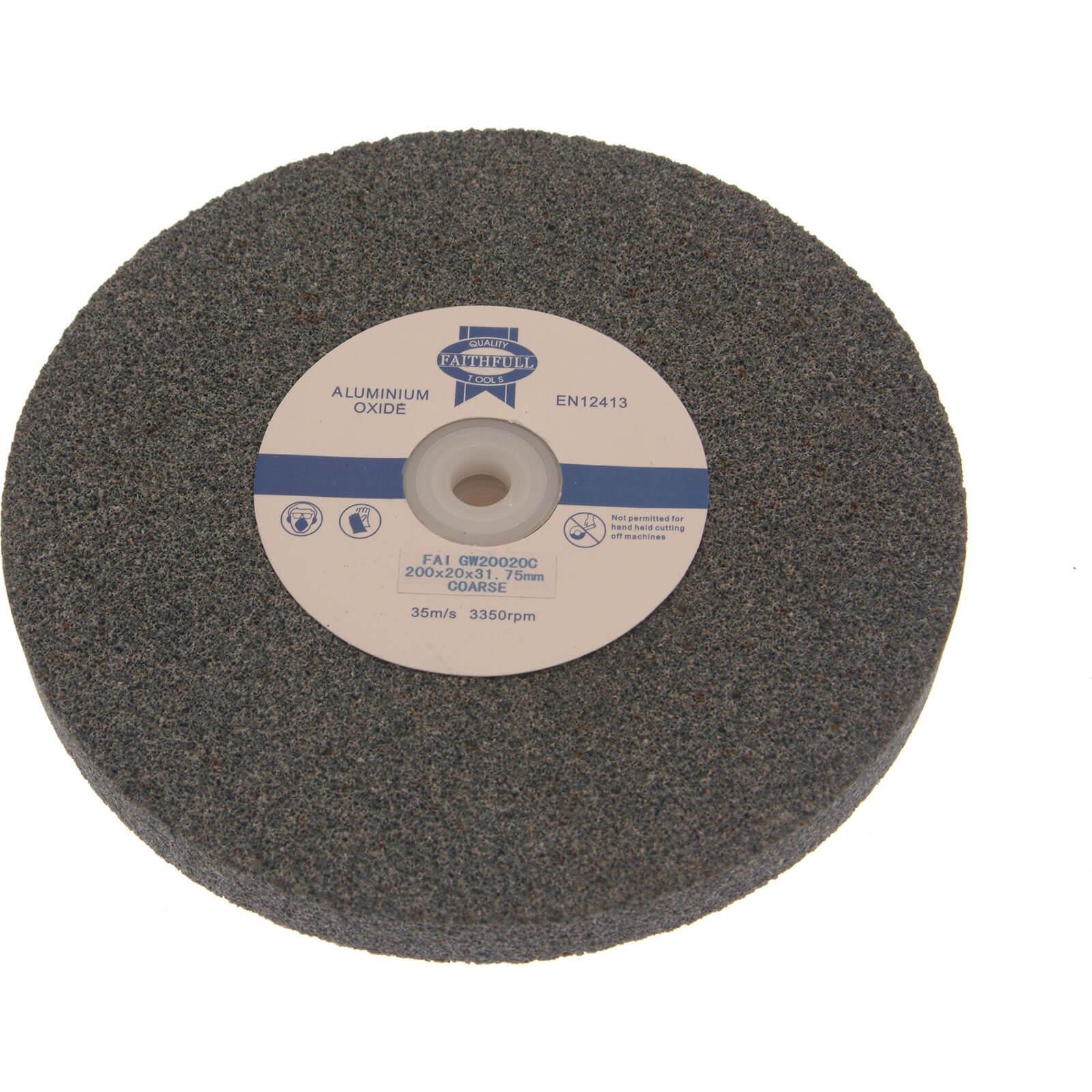 Image of Faithfull Aluminium Oxide Grinding Wheel 125mm 13mm Coarse