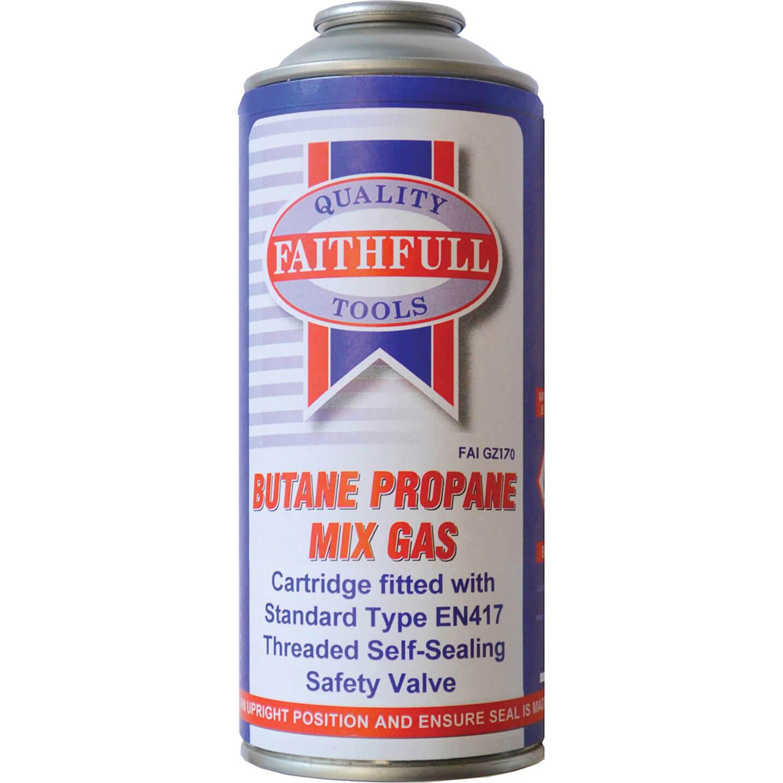 Image of Faithfull Butane Propane Gas Cartridge 170g
