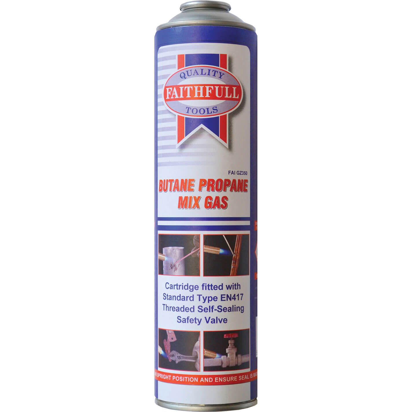 Image of Faithfull Butane Propane Gas Cartridge 350g