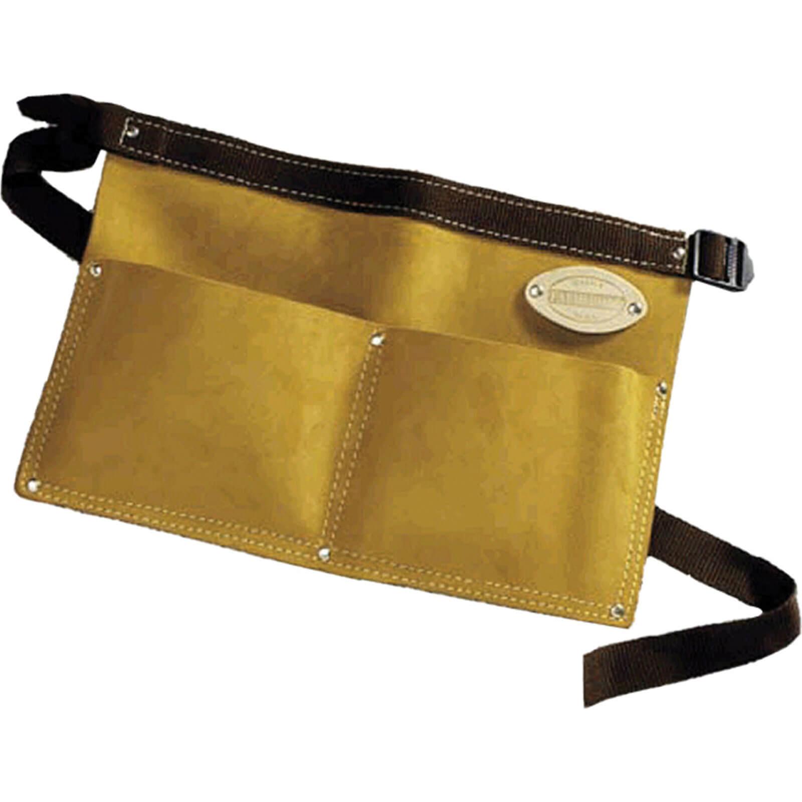 Faithfull Double Pocket Leather Nail pouch