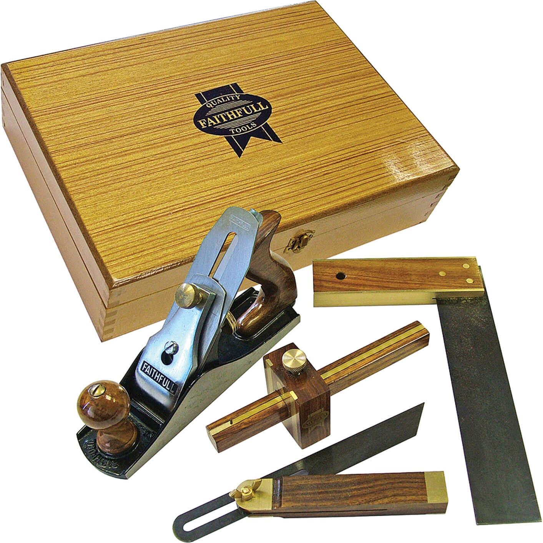 Image of Faithfull 4 Piece Woodworking Set