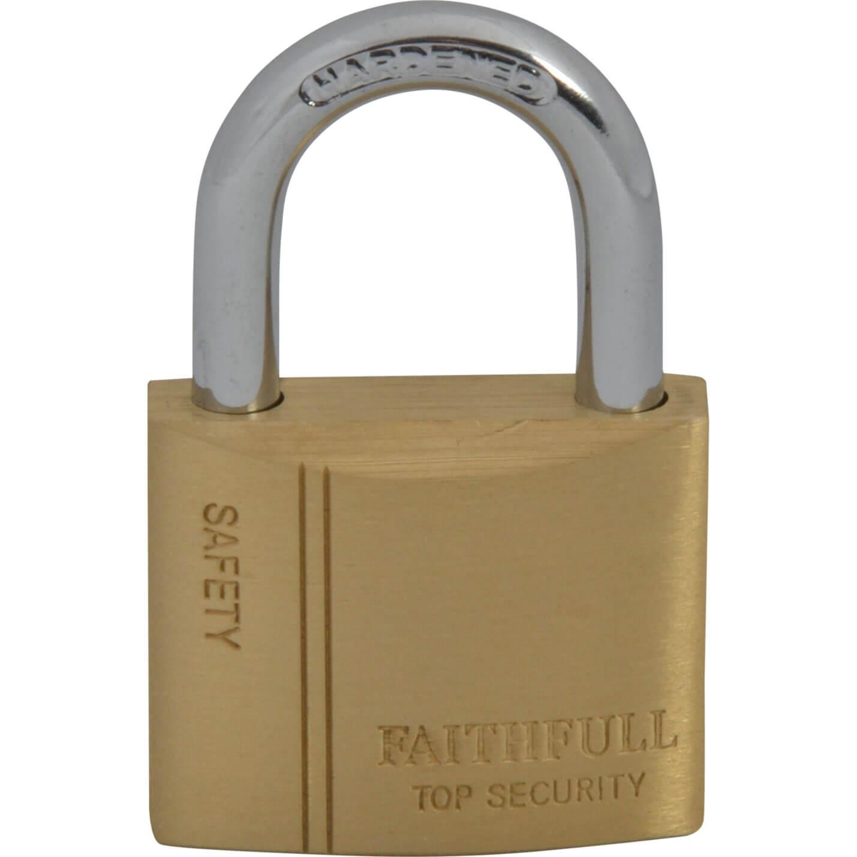 Faithfull Brass Padlock 40mm Standard