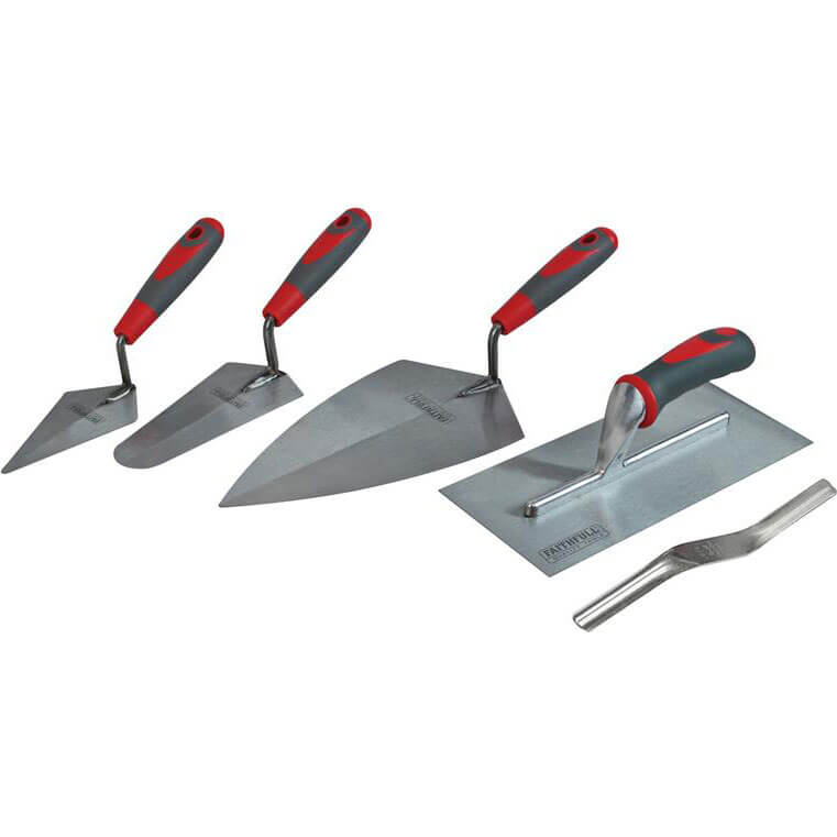 Image of Faithfull 5 Piece Soft Grip Trowel Set