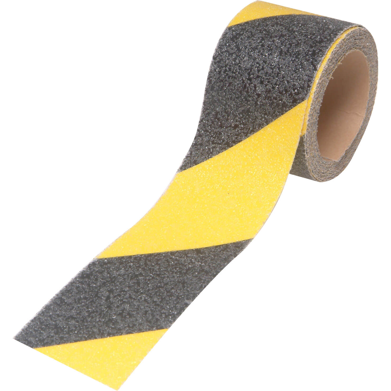 Image of Faithfull Black / Yellow Anti Slip Tape Black / Yellow 50mm 3m