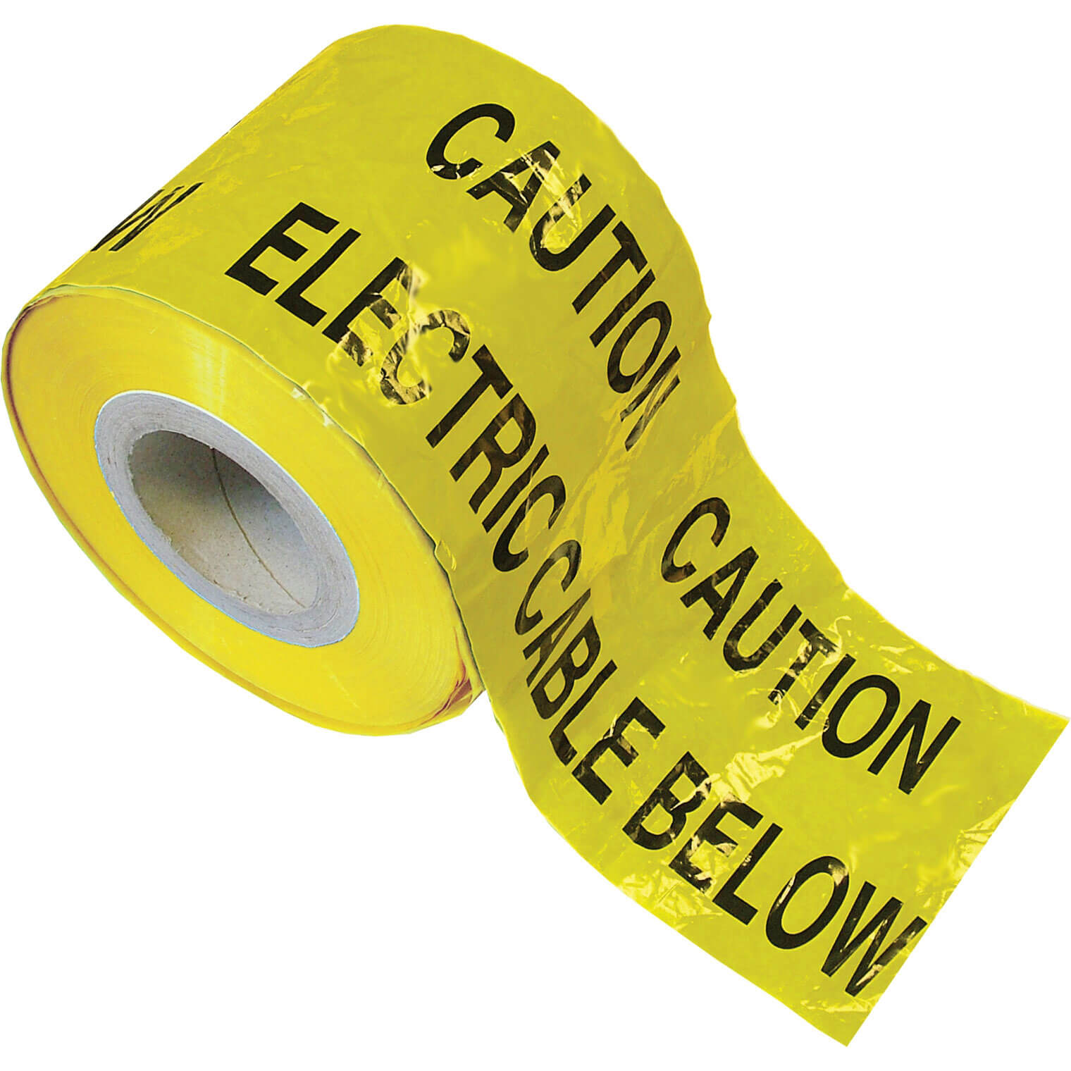 Image of Faithfull Electric Cable Warning Tape Yellow 150mm 365m