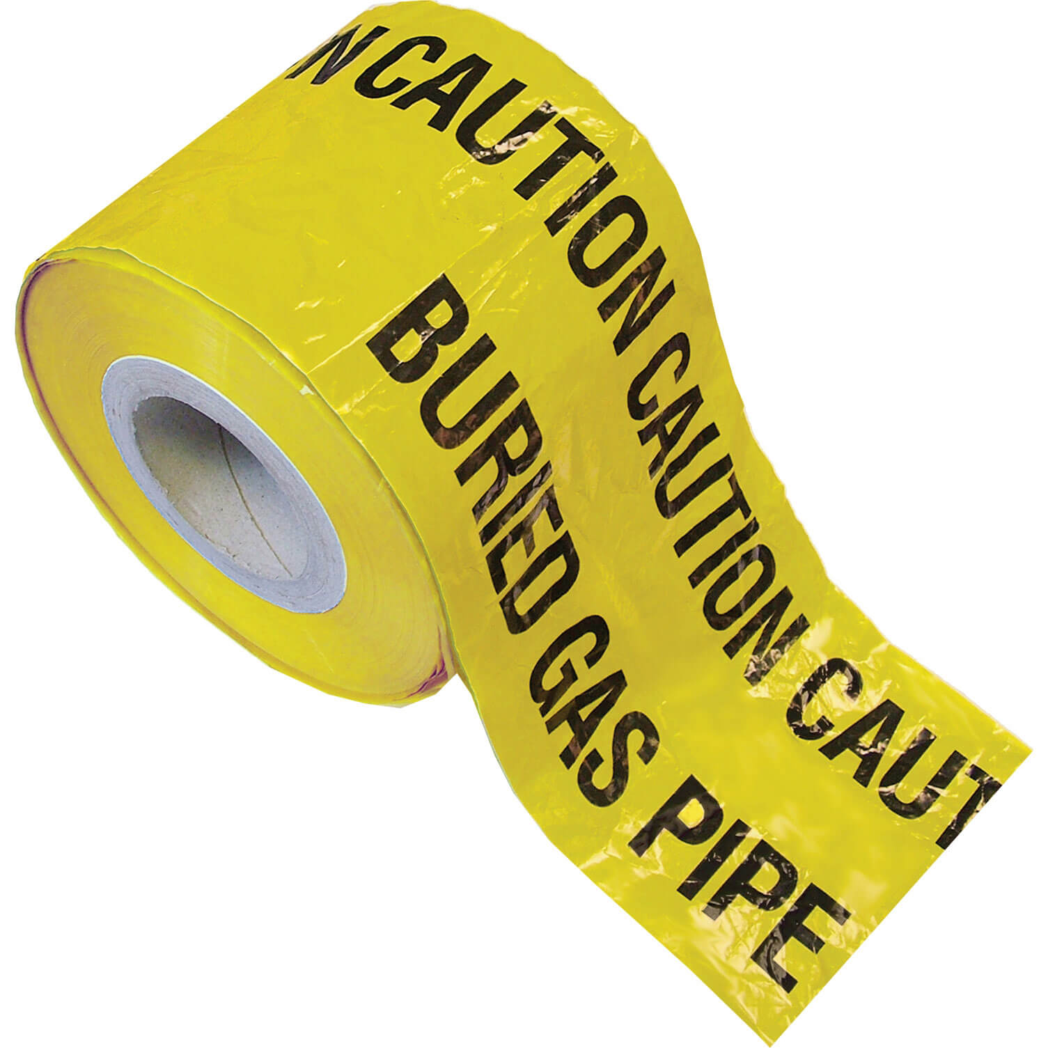 Image of Faithfull Gas Pipe Warning Tape Yellow 150mm 365m