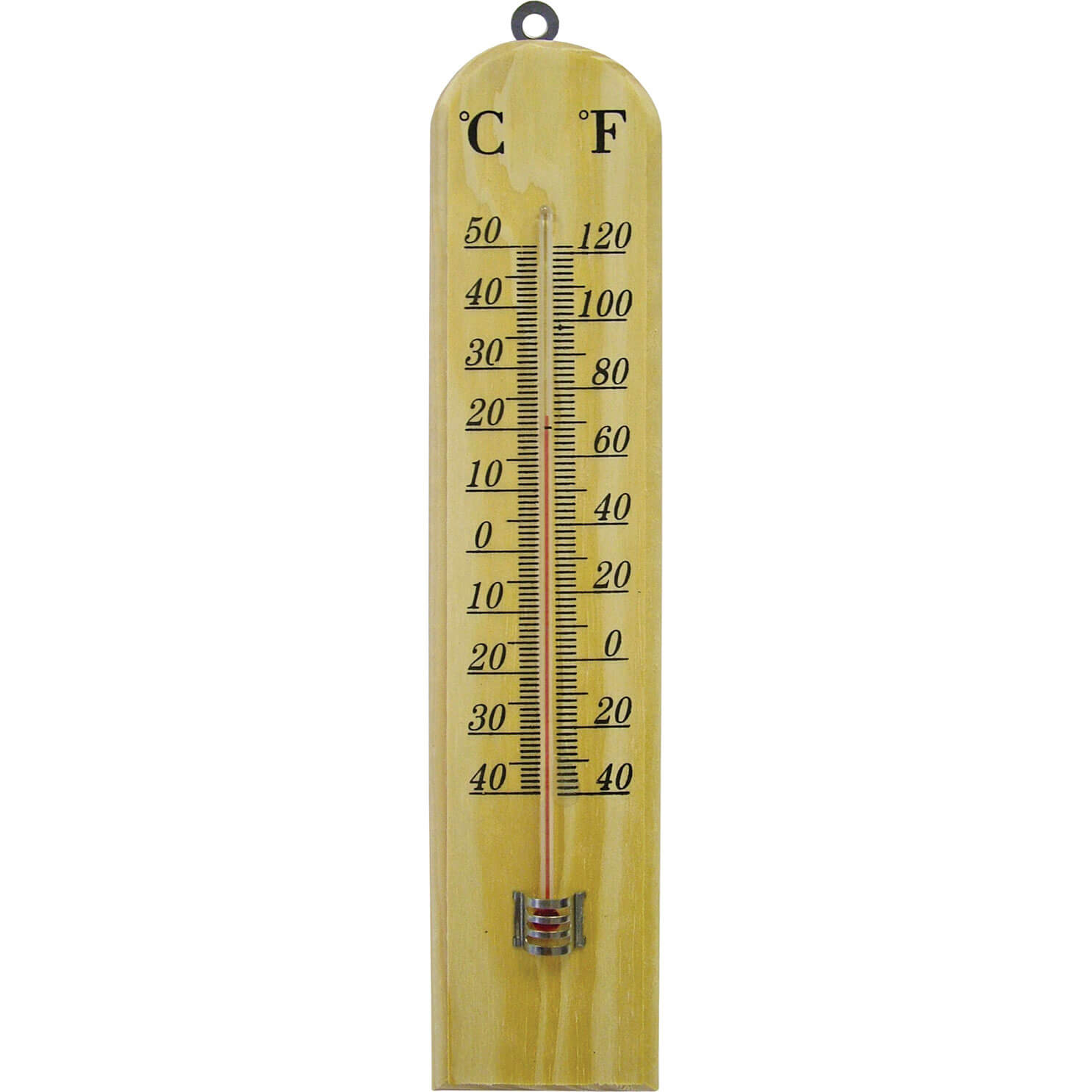 Image of Faithfull Wooden Wall Thermometer Small