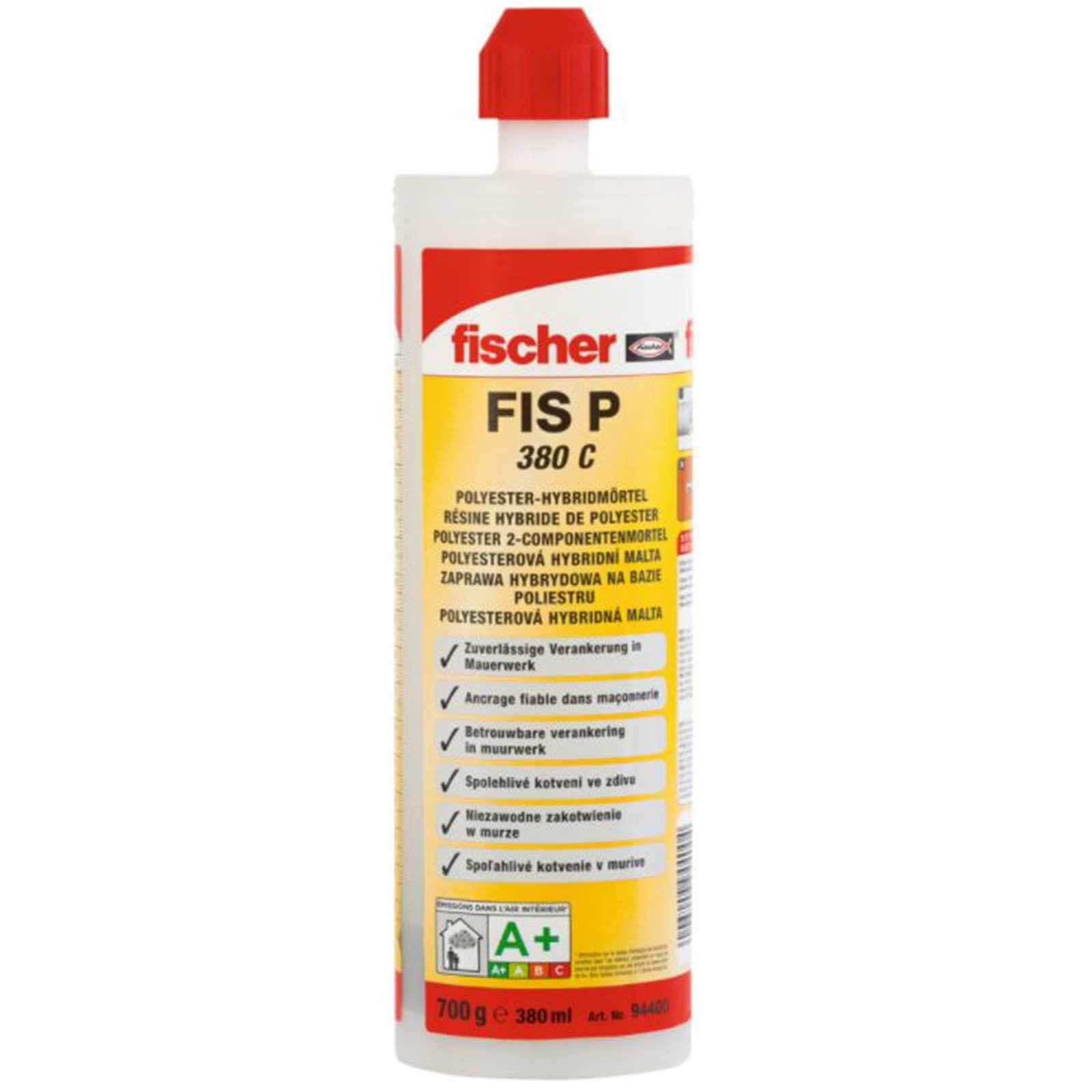Fischer FIS P380C Polyester Anchor Masonry Resin Cartridge 380ml