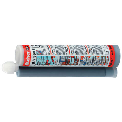 Image of Fischer FIS EM 390 Epoxy Anchor Masonry Resin Cartridge 390ml