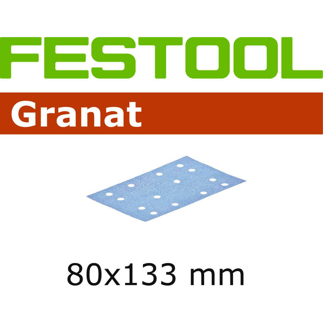 Image of Festool STF 80 x133mm Abrasive Sheet 80g Pack of 10