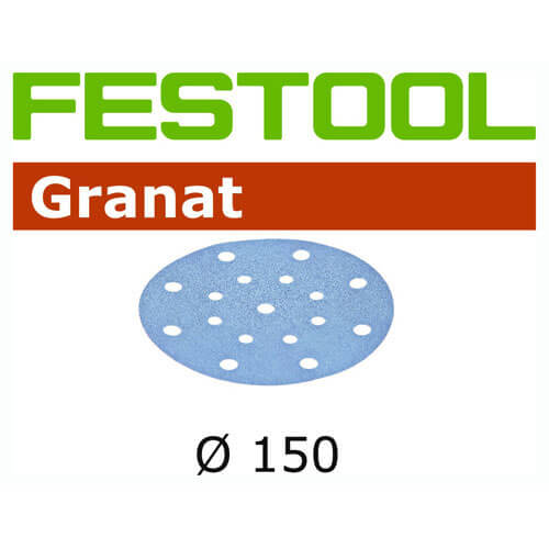 Image of Festool Granit StickFix 150mm Abrasive Discs 120g Pack of 10
