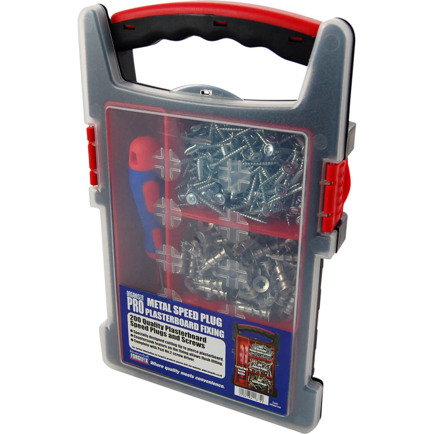 Image of Forgefix 200 Piece Speedplug Plasterboard Fixing Kit