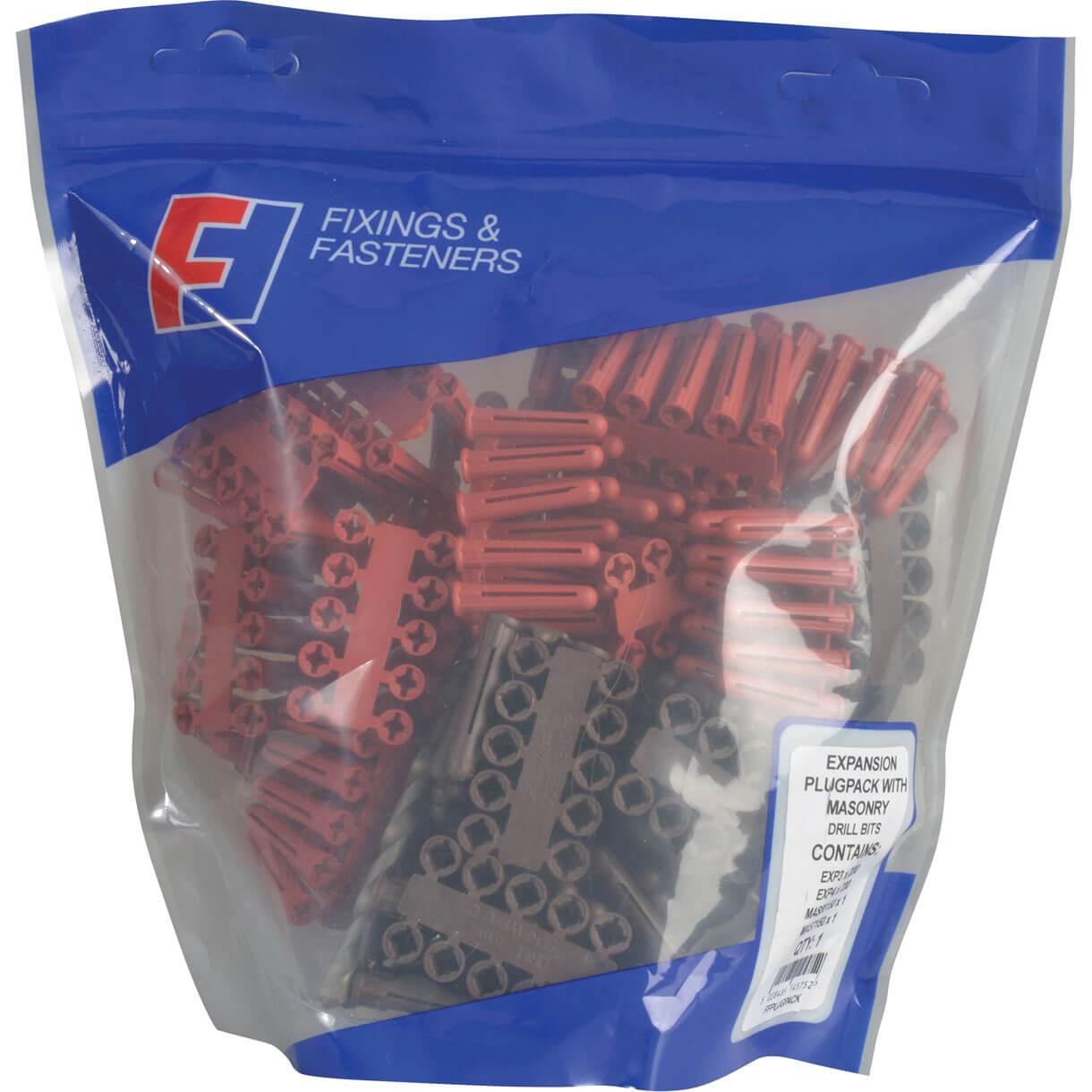 Image of Forgefix 402 Piece Plastic Wall Plug & Drill Bit Kit
