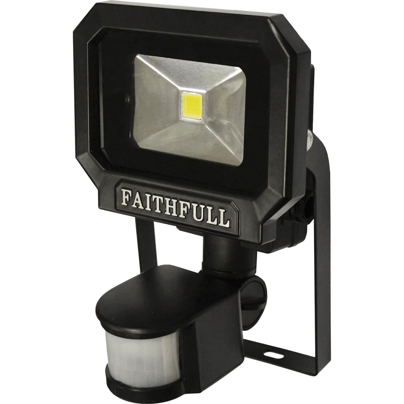 Image of Faithfull COB LED Security Floodlight PIR Motion Detector 10w 650 Lumens 240v