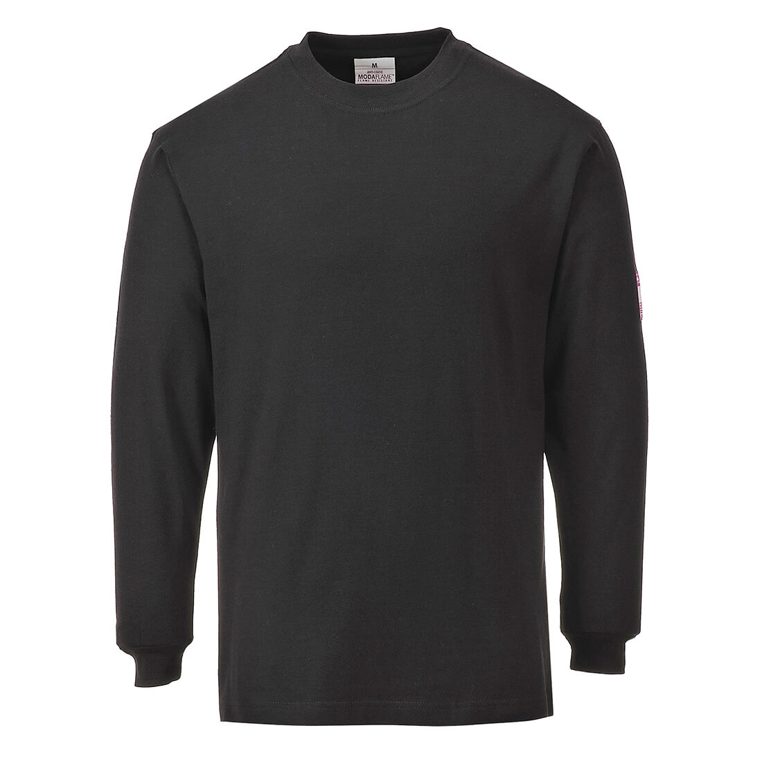 Image of Modaflame Mens Flame Resistant Antistatic T-Shirt Black 2XL