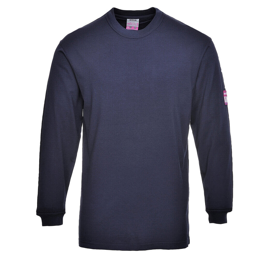 Image of Modaflame Mens Flame Resistant Antistatic T-Shirt Navy 3XL
