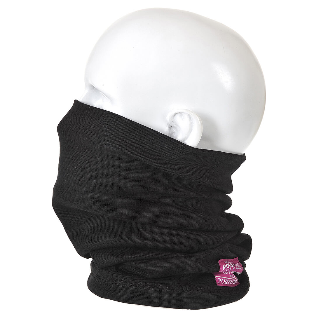 Image of Modaflame Flame Resistant Antistatic Neck Tube Black One Size