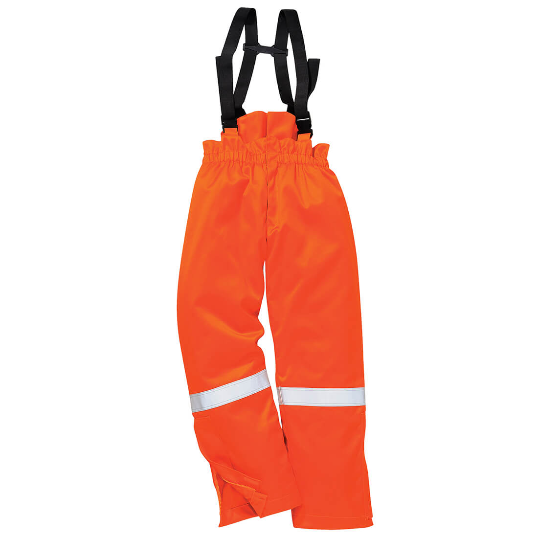 Image of Biz Flame Flame Resistant Antistatic Winter Bib & Brace Orange 2XL