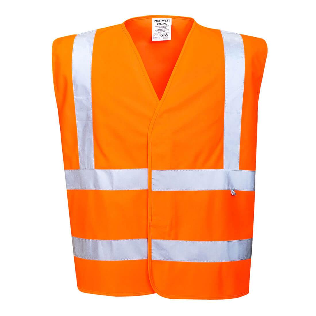 Image of Biz Flame Hi-Vis Flame Resistant Vest Orange 4XL
