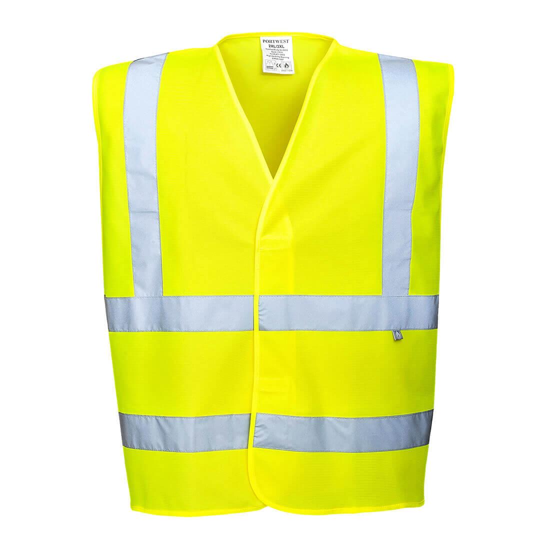 Image of Biz Flame Hi-Vis Flame Resistant Vest Yellow 3XL