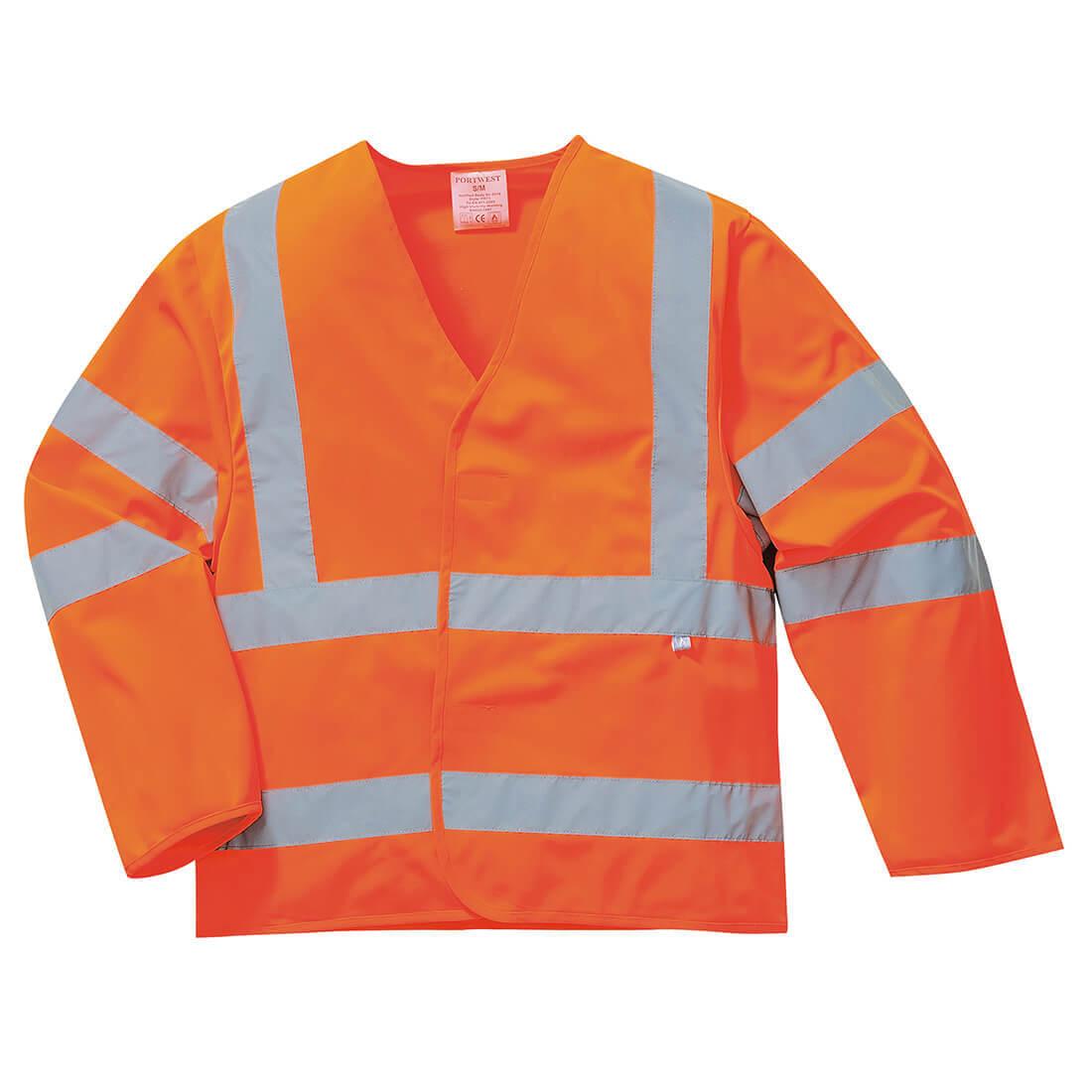 Image of Biz Flame Hi Vis Flame Resistant Jacket Orange 2XL / 3XL