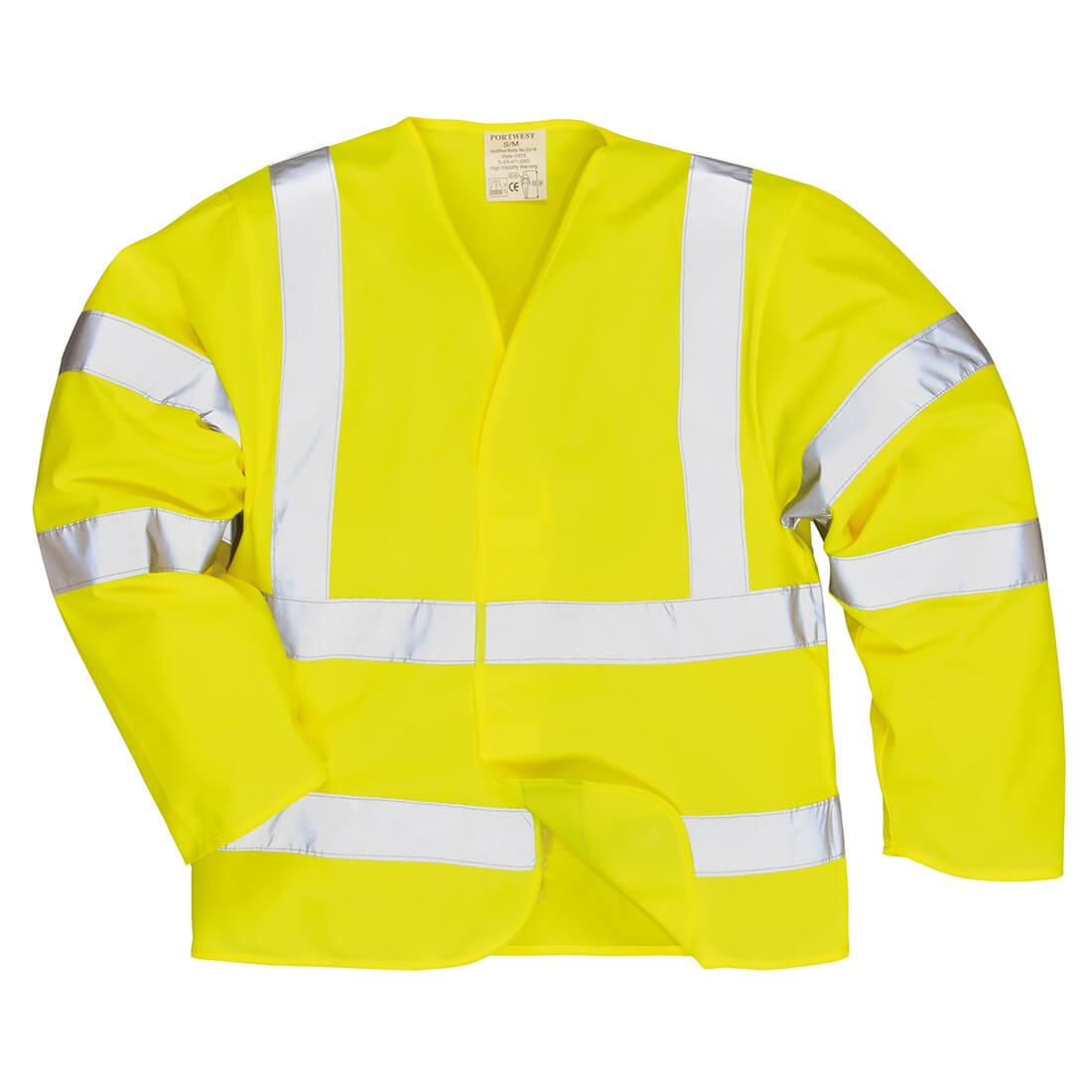 Image of Biz Flame Hi Vis Flame Resistant Jacket Yellow 2XL / 3XL