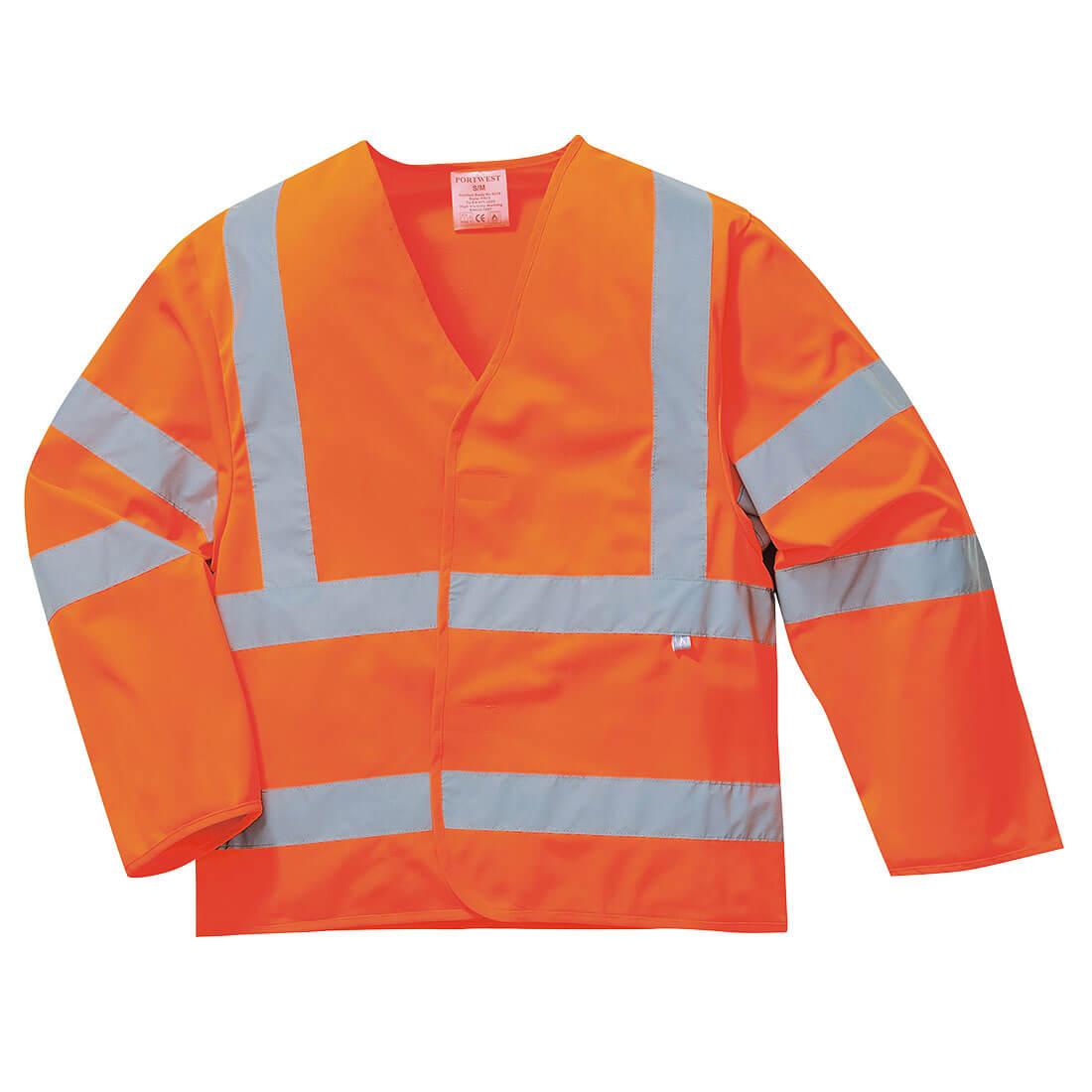 Image of Biz Flame Class 3 Hi Vis Anti Static Flame Resistant Jacket Orange 2XL / 3XL