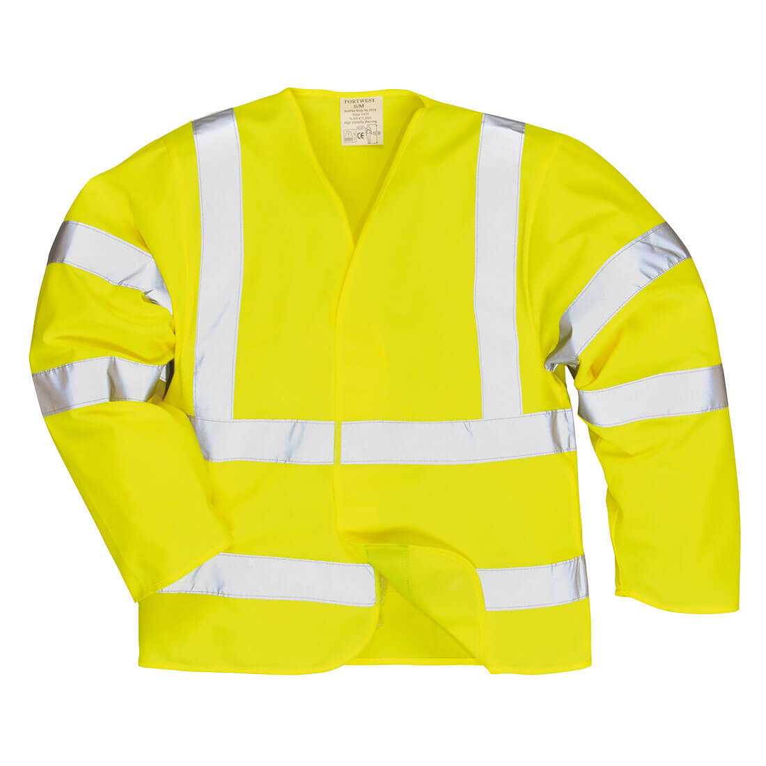Image of Biz Flame Class 3 Hi Vis Anti Static Flame Resistant Jacket Yellow 2XL / 3XL