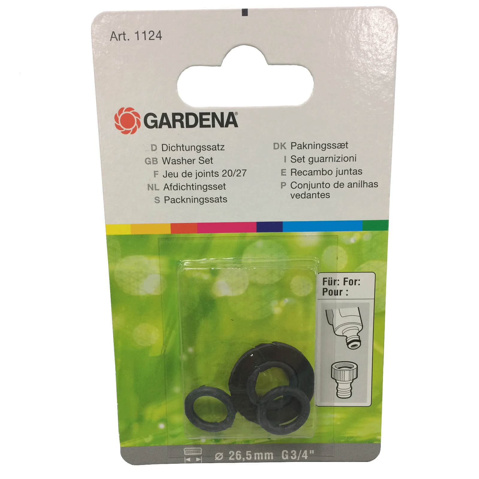 Gardena Replacement Connector SB Washer & O Ring Set