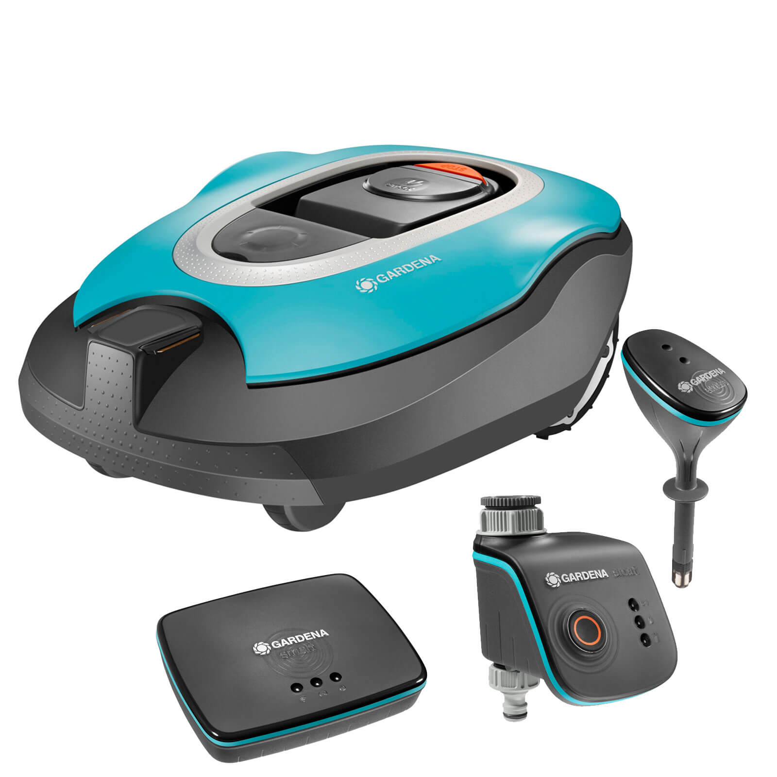 Image of Gardena SILENO Robotic Mower & Smart System Set 1 x 2ah Integrated Li-ion Charger
