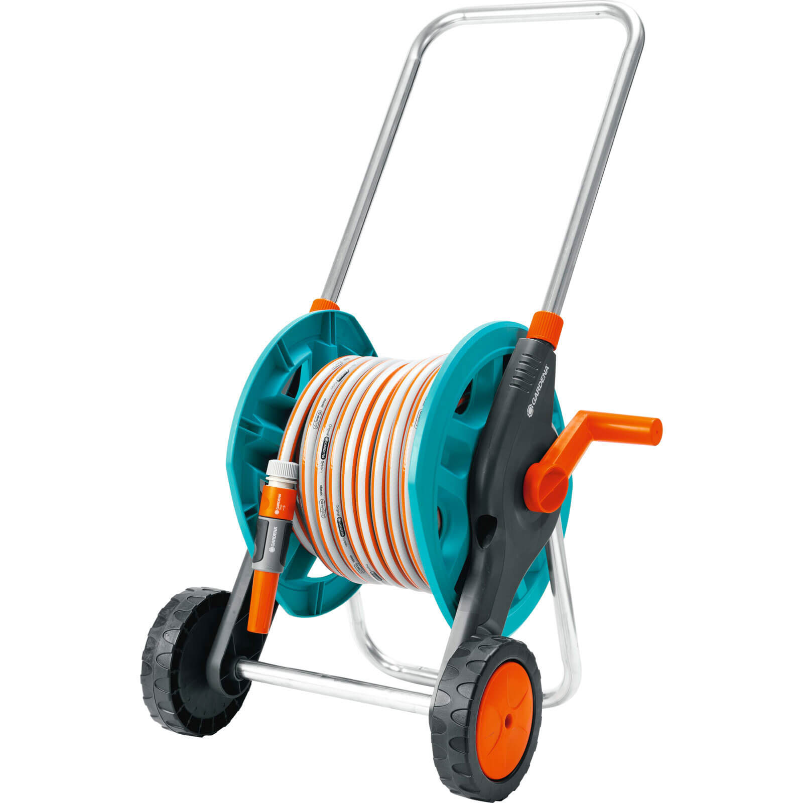 Gardena 30m Folding Compact Hose Cart with 30m Classic Hose Pipe