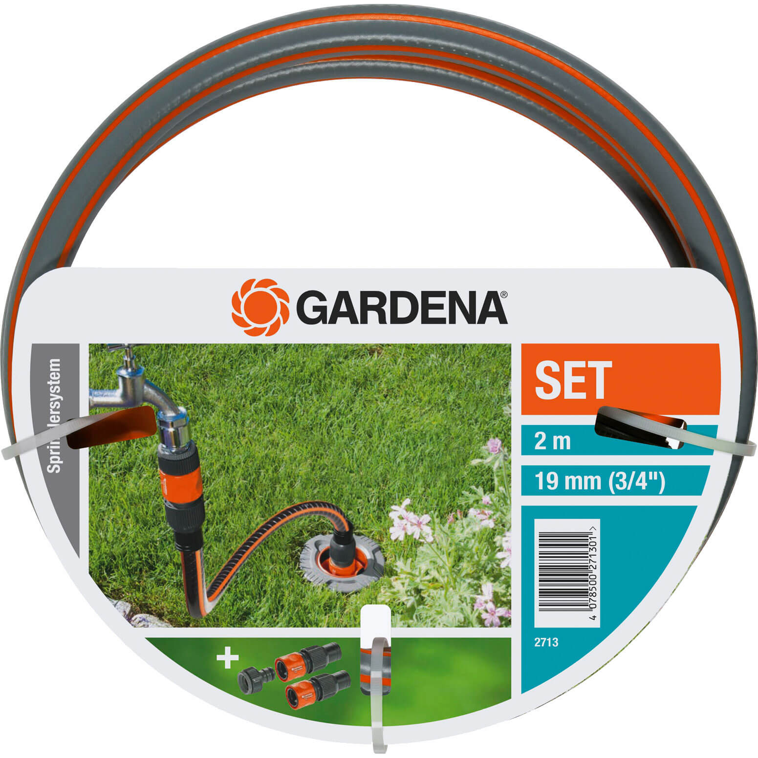 gardena sprinkler system profi hose pipe connection set. Black Bedroom Furniture Sets. Home Design Ideas