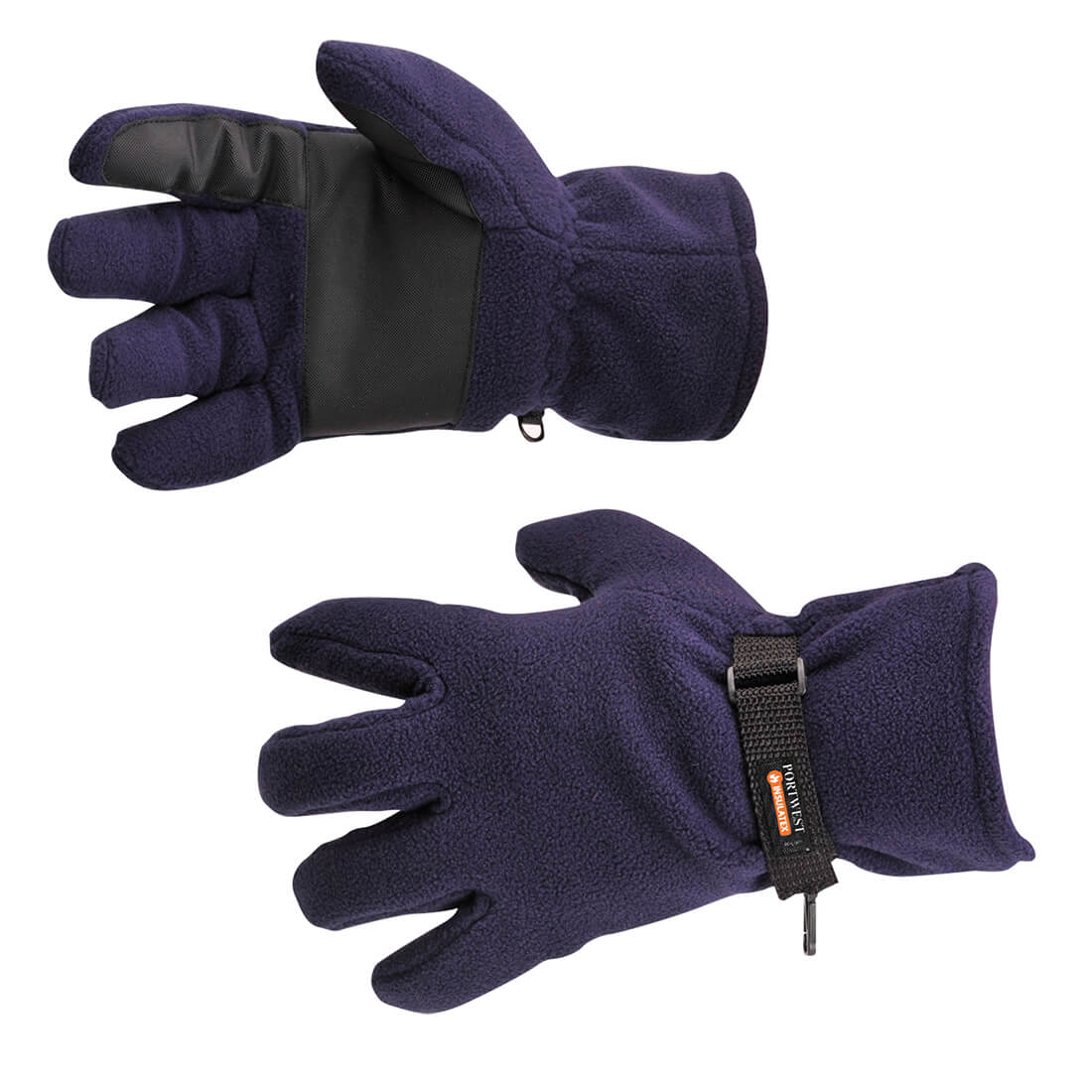 Image of Portwest Insulatex Lined Fleece Gripper Gloves Navy One Size