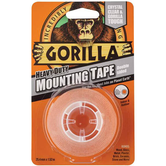 Image of Gorilla Glue Heavy-Duty Double SidedTape Clear 25mm 1.5m
