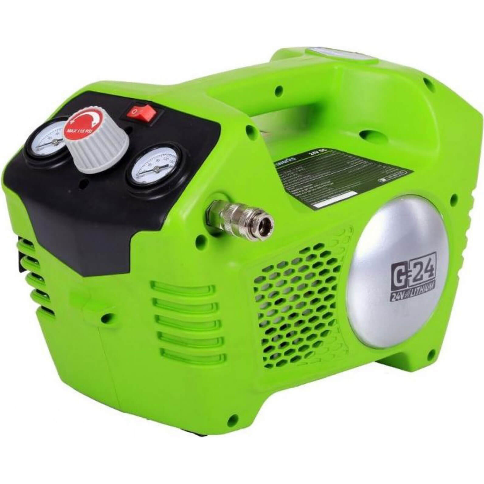 Image of Greenworks G24AC 24v Cordless Air Compressor No Batteries No Charger