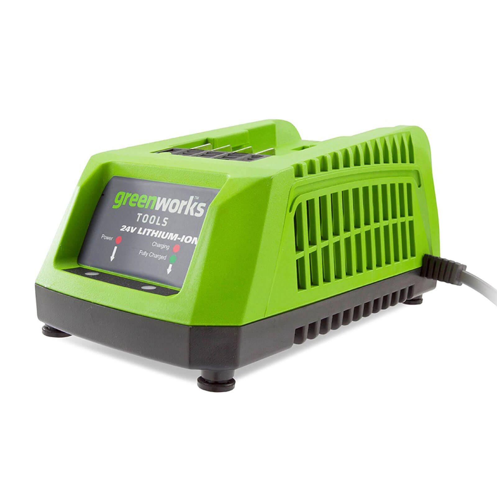 Image of Greenworks G24C E56 24v Cordless Li-ion Fast Charger 240v