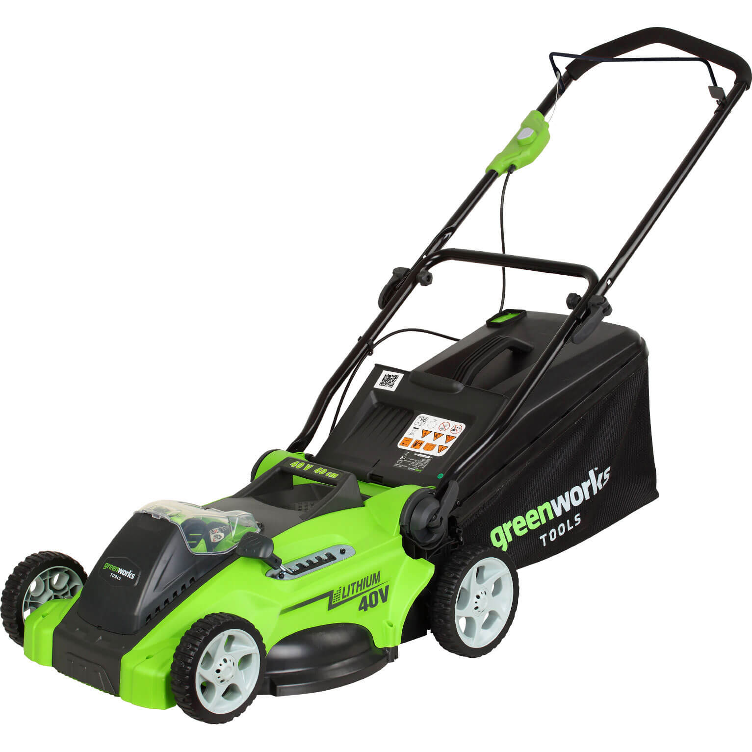 Image of Greenworks G40LMK 40v Cordless Rotary Lawnmower 400mm No Batteries No Charger