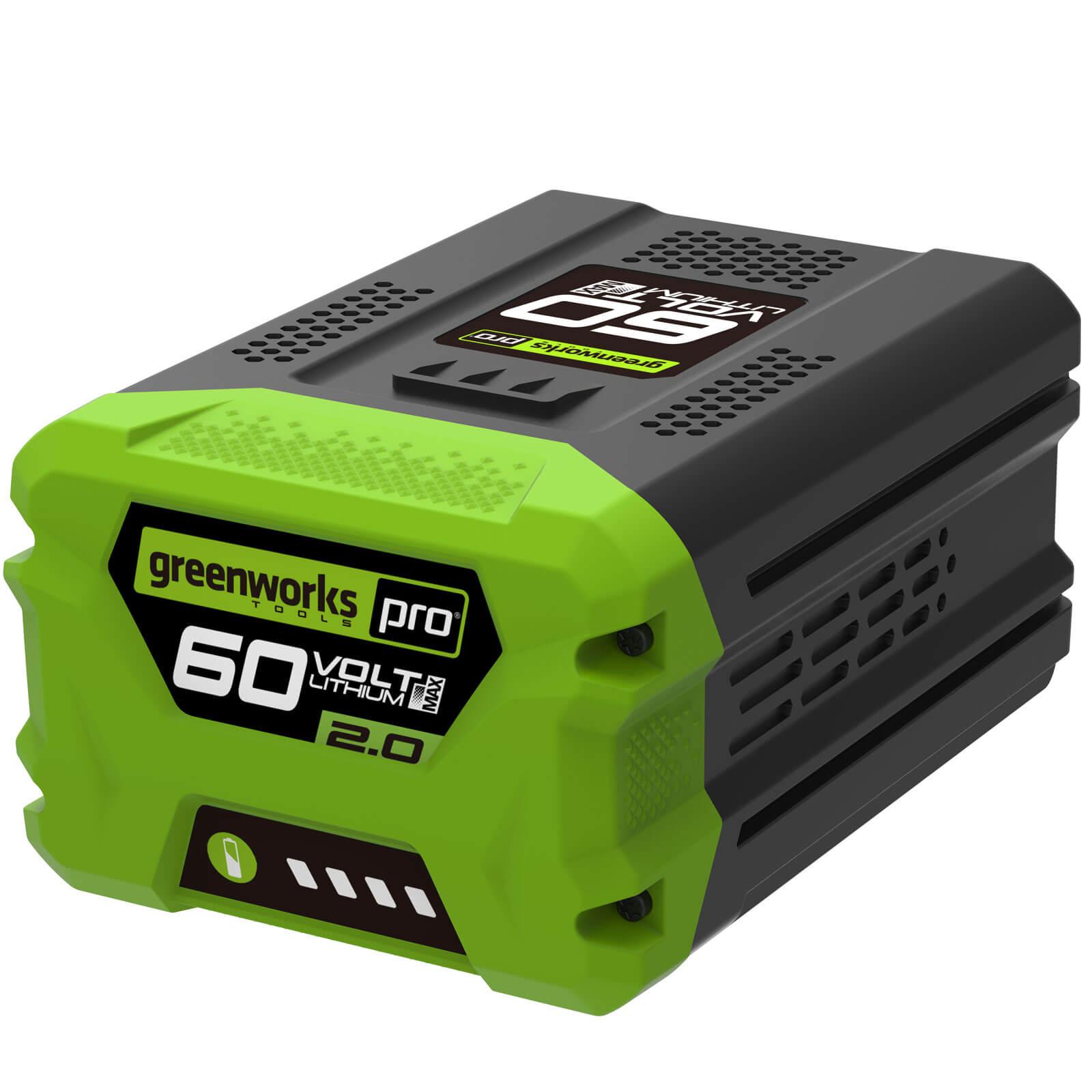 greenworks g60 60v cordless li ion battery 2ah. Black Bedroom Furniture Sets. Home Design Ideas