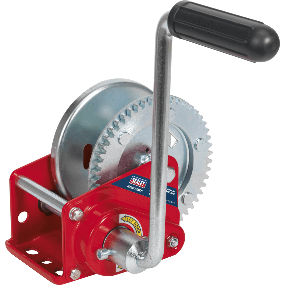 Sealey Hardened Steel Geared Hand Winch with Automatic Brake 540Kg
