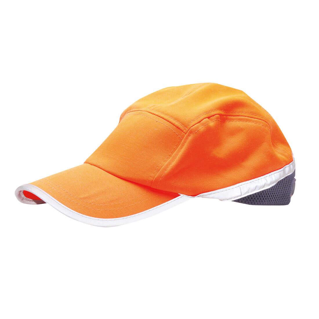 Image of Portwest Hi Vis Baseball Cap Orange / Navy One Size