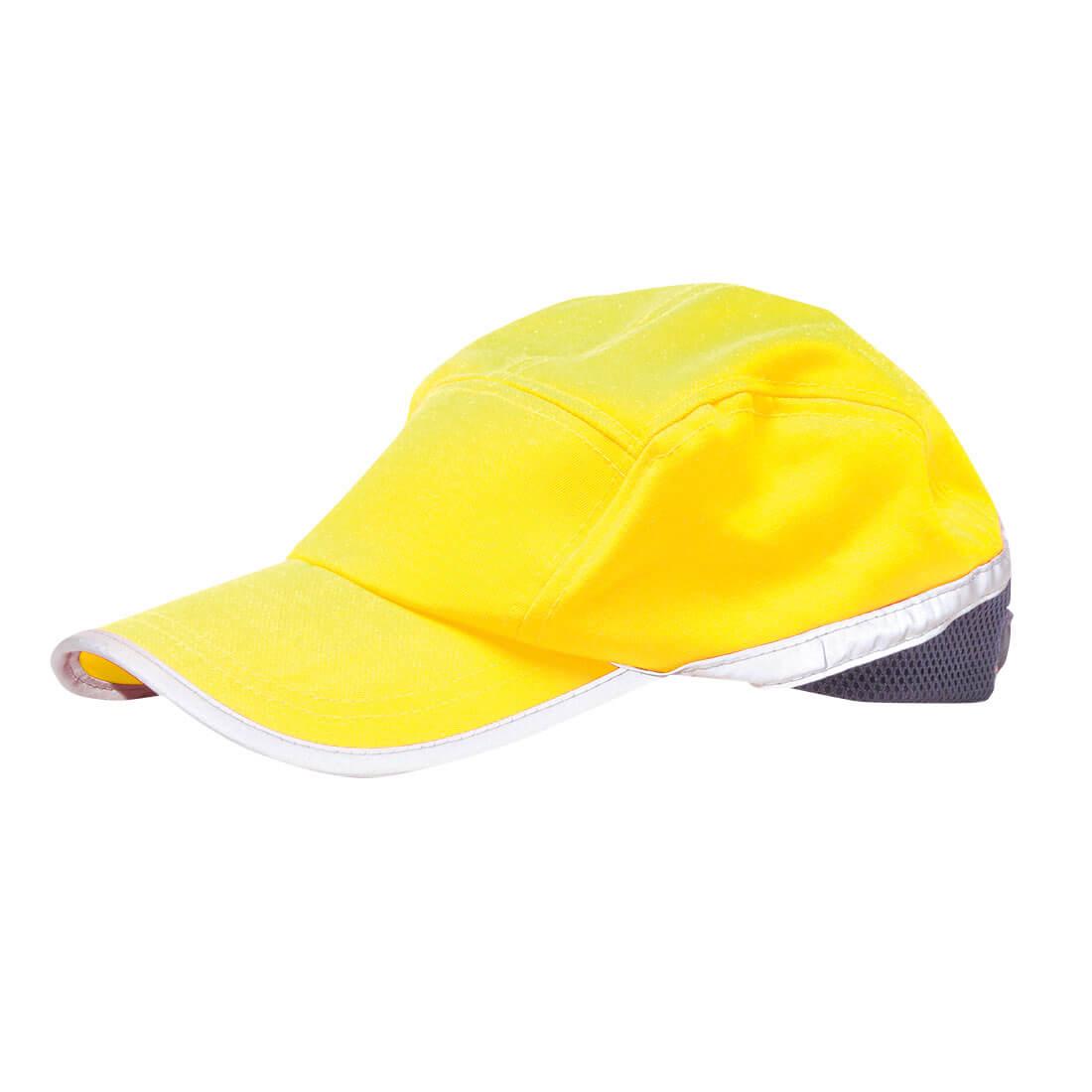 Image of Portwest Hi Vis Baseball Cap Yellow / Navy One Size