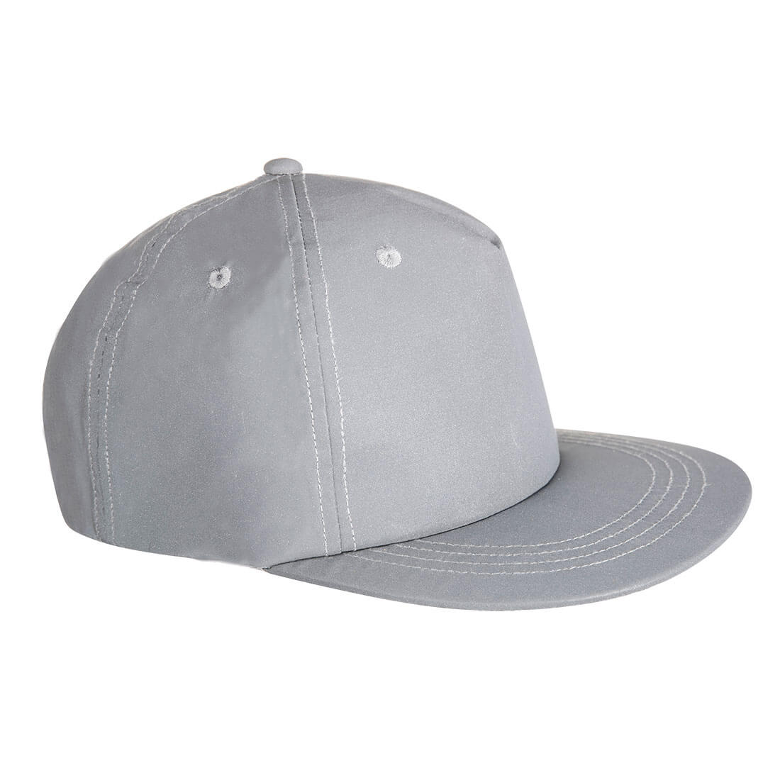 Image of Portwest Reflective Baseball Cap Silver One Size